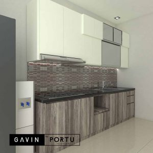 contoh kitchen set finishing hpl desain minimalis Gavin by Portu id3949