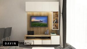 backdrop tv design minimalis modern di Gading Serpong id3937