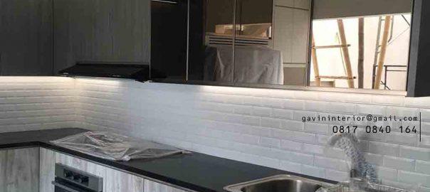 buat kitchen set minimalis modern letter l project di Bekasi id3712