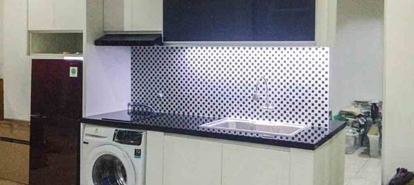 jual kitchen set minimalis murah finishing hpl di Cawang id3870