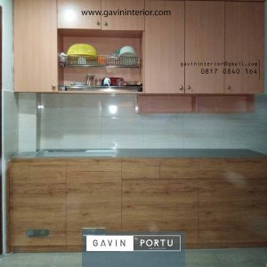 model lemari dapur bersih minimalis bentuk i di Kebon Jeruk id 3617