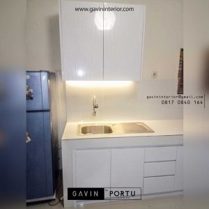 pembuatan kitchen set murah hpl Gavin by Portu id3609