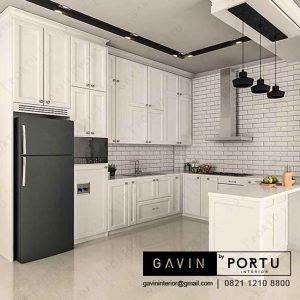 buat kitchen set duco putih di Jonggol Gavin by Portu id3156