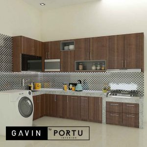 contoh model kitchen set minimalis modern di Sunter id4024