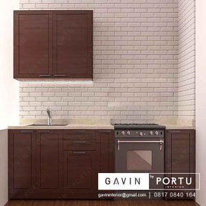 design lemari dapur warna coklat di Cipondoh id3214