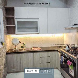 gambar kitchen set letter l minimalis sederhana di Cibinong id4052
