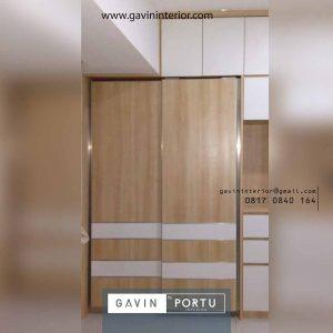 lemari pakaian sliding model minimalis Gavin by Portu id3911