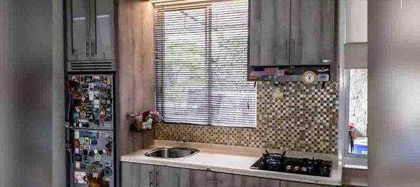 pembuatan kitchen set minimalis letter i di BSD id4090