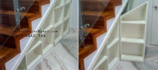 lemari bawah tangga hpl minimalis di Rawamangun id4034