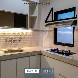 contoh gambar kitchen set modern finishing hpl Gavin by Portu id4091