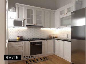 contoh kitchen set finishing duco warna putih di Bintaro id4015