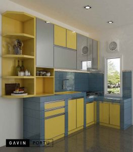 design gambar kitchen set minimalis modern Gavin by Portu id3803