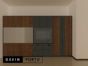 design lemari baju sliding minimalis Gavin by Portu id4086