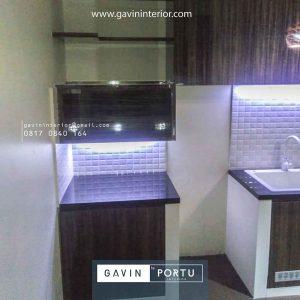 kitchen set dapur minimalis modern warna coklat kayu id4162
