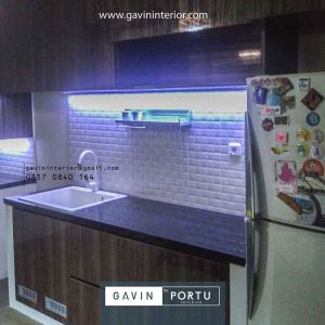 model kitchen set dapur minimalis modern letter i Gavin by Portu id4162
