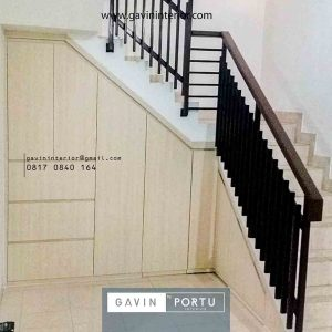 model lemari bawah tangga minimalis hpl di Pondok Kelapa id4087