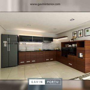 contoh design kitchen set murah minimalis letter L di Tangerang id3941