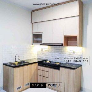 contoh lemari dapur custom minimalis kombinasi warna id3985