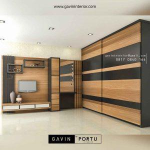 design backdrop tv kamar tidur minimalis modern Gavin by Portu id3518