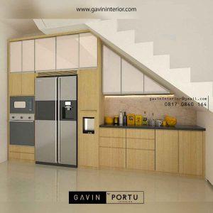 design kitchen set dibawah tangga minimalis terbaru Gavin by Portu id3662