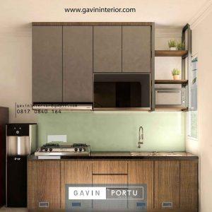 contoh desain lemari dapur sederhana finishing hpl Gavin by Portu id4251