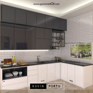 10 Gambar Kitchen Set Finishing HPL & Cat Duco