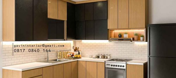 Kitchen Set Design Kombinasi Warna Kawasan Griya Rajawali Ciputat id4181pt