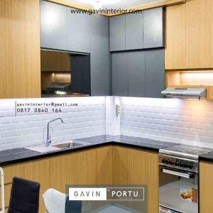 Kitchen Set Design Kombinasi Warna di Kawasan Griya Rajawali Ciputat id4181pt