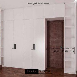 Lemari Pakaian Minimalis Warna Putih Klien Sasak Tinggi Kedaung Pamulang id4045P