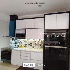 Kitchen Set Minimalis Modern Warna Putih Perumahan Discovery Serenity Bintaro Pondok Aren Tangerang Id4362