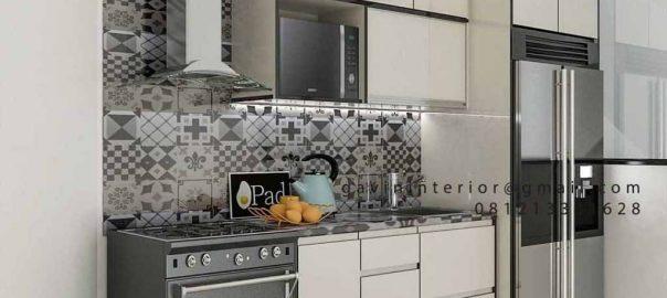 Kitchen Set Minimalis Modern Warna Putih Perumahan Discovery Serenity Bintaro Pondok Aren id4362