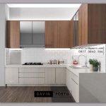 Buat Kitchen Set HPL Motif Kayu & Warna Putih ID4896P