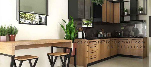 Dapur Tampil Elegan Dengan Kitchen Set HPL ID4517PT