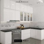 Dapur Tampil Elegan Dengan Kitchen Set HPL Warna Putih ID3435P