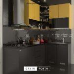Kitchen Set HPL Kombinasi Warna