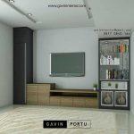 Credenza Tv Mewah Rangan Keluarga Desain Minimalis