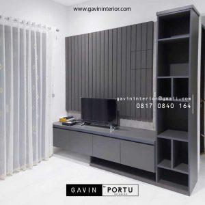 Harga Backdrop TV Mewah Grey Perumahan Dukuh Bima Kota Legenda Tambun Bekasi ID4855P