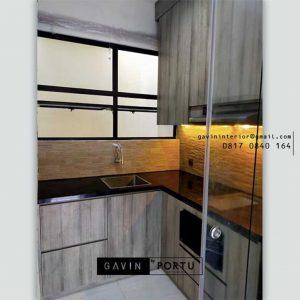 Jasa buat Kitchen Set Minimalis Modern Motif Kayu Suvarna Sutera Cikupa Sindang Jaya Tangerang Id4897P