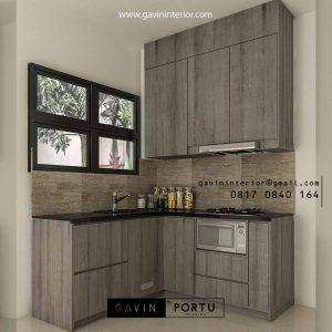 Kitchen Set Minimalis Modern Motif Kayu Suvarna Sutera Cikupa Sindang Jaya Tangerang Id4897P