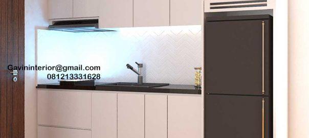 Design Kitchen Set Minimalis Putih Apartemen Signature Park Grande Kramat Jati id4774P