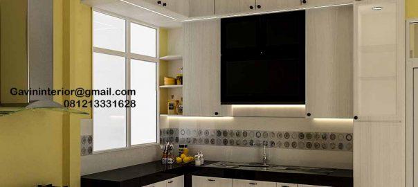 Jasa Kitchen Set Minimalis Putih Klien Haji Hasan Baru Pasar Rebo Jakarta ID4624PT