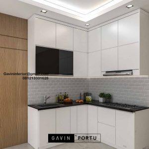 Jual Kitchen Set Putih Perumahan Villa Rizki Ilhami Kelapa Dua Tangerang Id4823