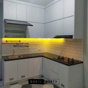 Jual Kitchen Set Putih Perumahan Villa Rizki Ilhami Kelapa Dua Tangerang Selatan Id4823