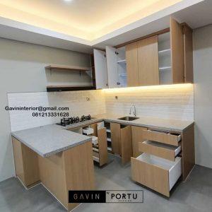 Buat Kitchen Set HPL Motif Kayu Perumahan Kencana loka 2 extension Serpong Tangerang Id4867T