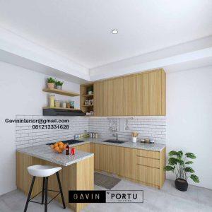 Kitchen Set HPL Motif Kayu Perumahan Kencana loka 2 extension Serpong Tangerang Id4867T