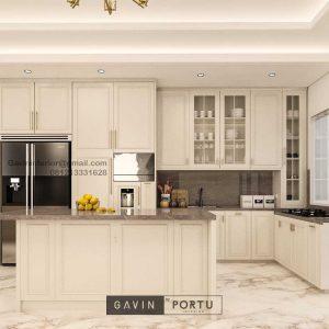 Design Kitchen Set Klasik Putih Doff Cluster Violin Golf Island Pik Penjaringan Jakarta ID4969P
